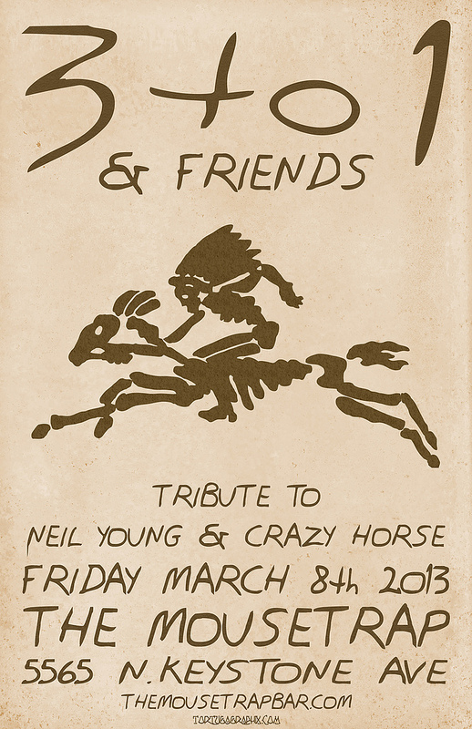 3:1 and Friends tribute to Neil Young & Crazy Horse - Friday, March 8th