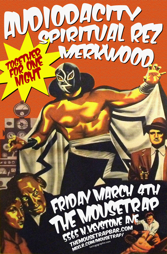 Audiodacity AND Spiritual Rez wsg/ Merkwood - Friday, March 4th