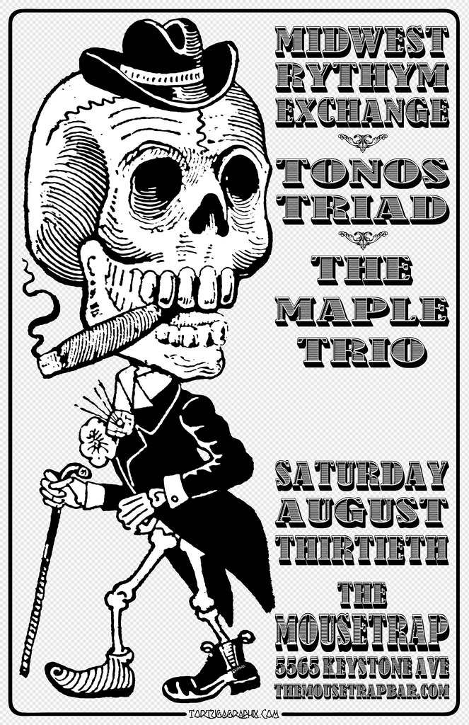 Midwest Rhythm Exchange w Tonos Triad - Saturday, August 30th