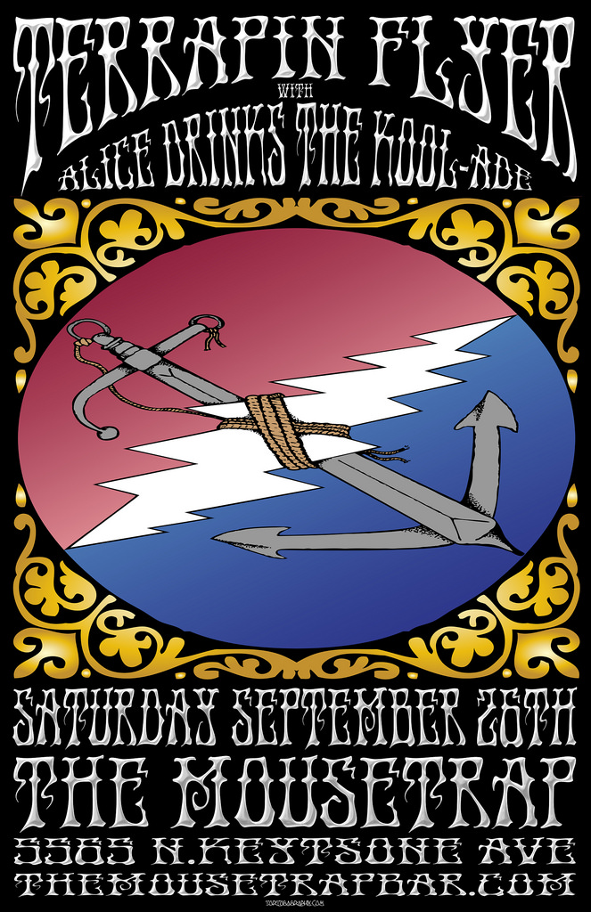 Terrapin Flyer w/ Alice Drinks The Kool Aid  - Saturday, September 26th