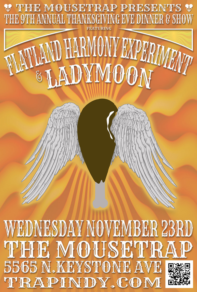 Flatland Harmony & Ladymoon - 9th Annual Thanksgiving Eve Show - Wednesday, November 23rd