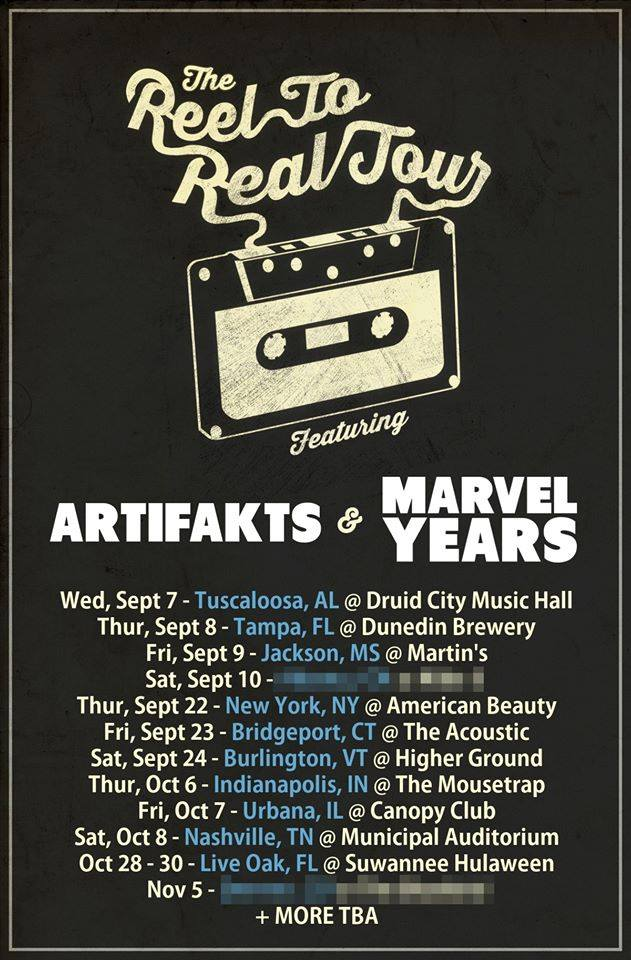 Altered Thurzdaze w/ Artifakts & Marvel Years - Reel to Real Tour - Thursday, October 6th