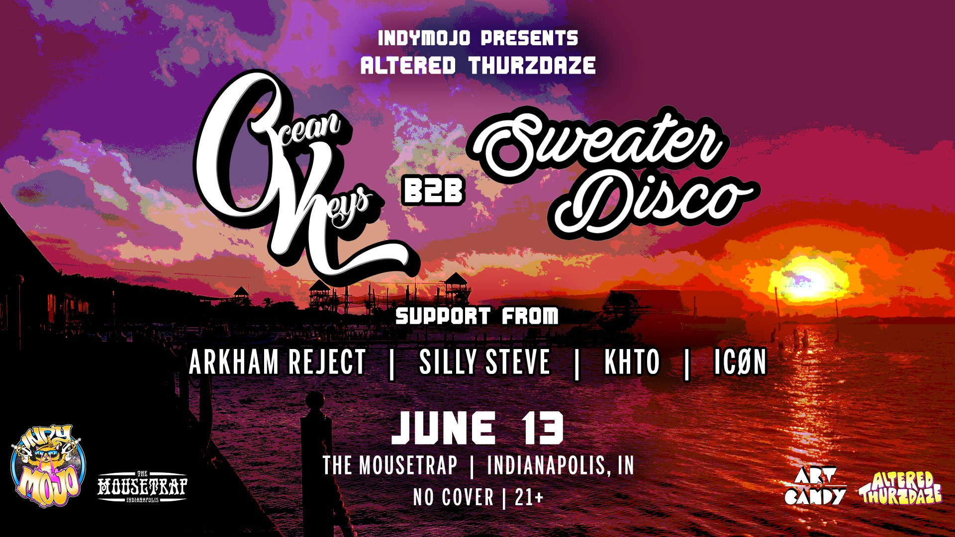 Altered Thurzdaze w/ Ocean Keys b2b Sweater Disco and more! - Thursday, June 13th