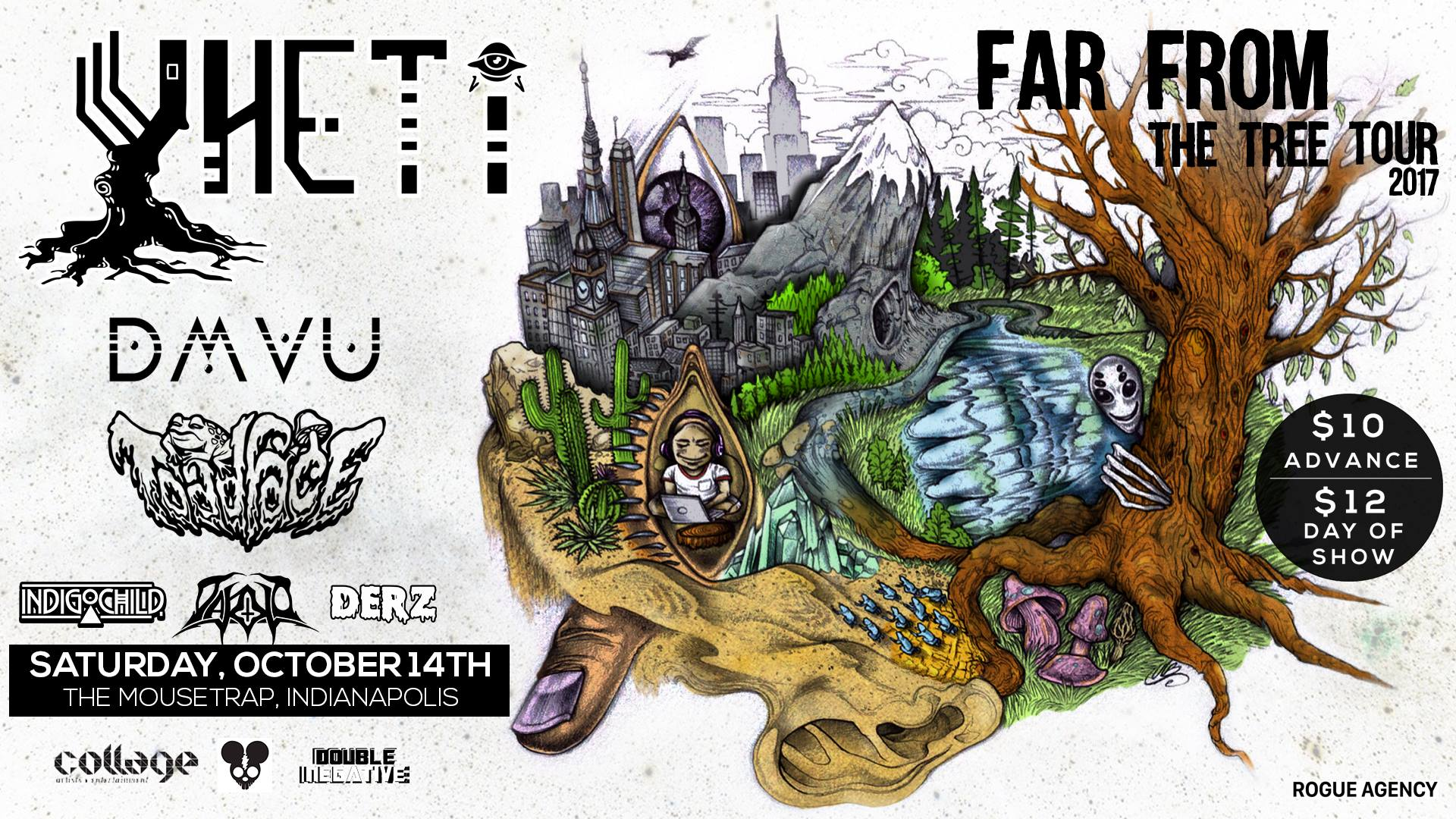 Yheti: Far From The Tree Tour w/ DMVU & Toadface - Saturday, October 14th