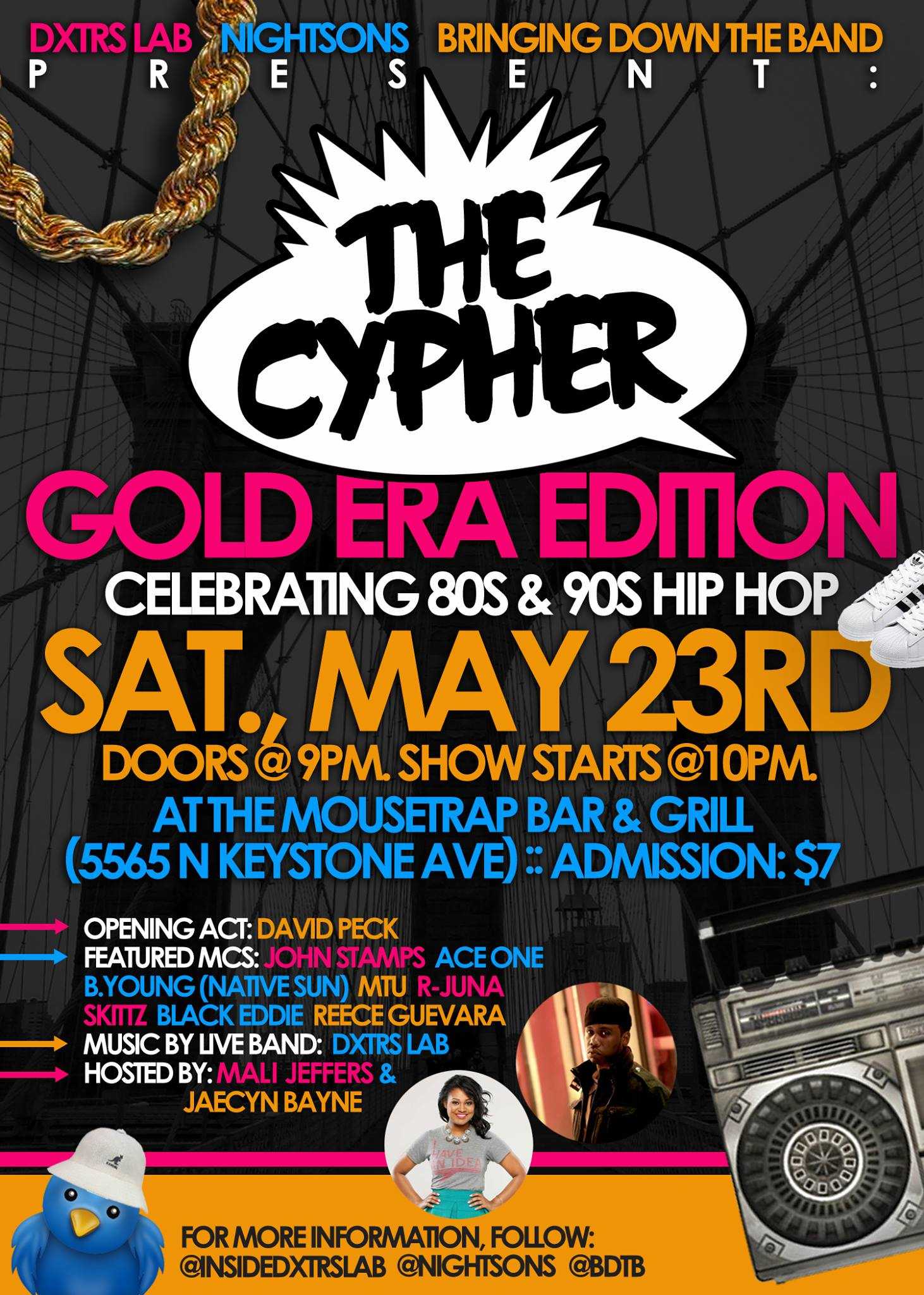 The Cypher: Presented By Dxtrs Lab, Bringing Down The Band & Nightsons - Saturday, May 23rd